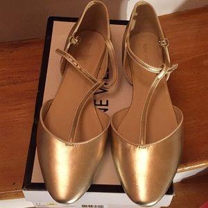 056d74eecd6b Nine West Shoes - Nine West ZENDA gold flat elegant center T-strap